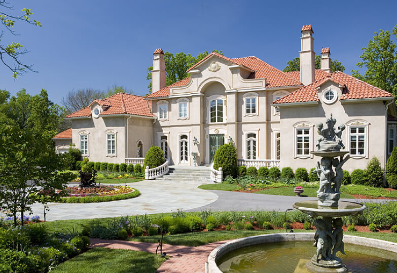 Mediterranean Home with two fountains